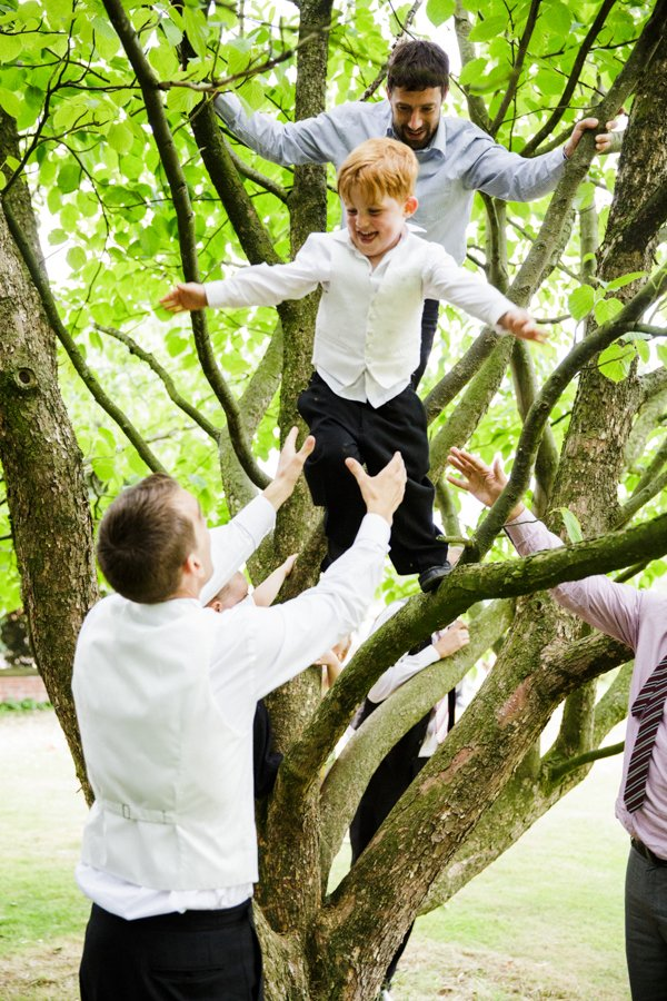 tree climb wedding