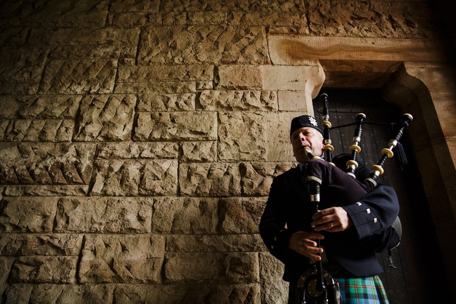 bagpipes wedding