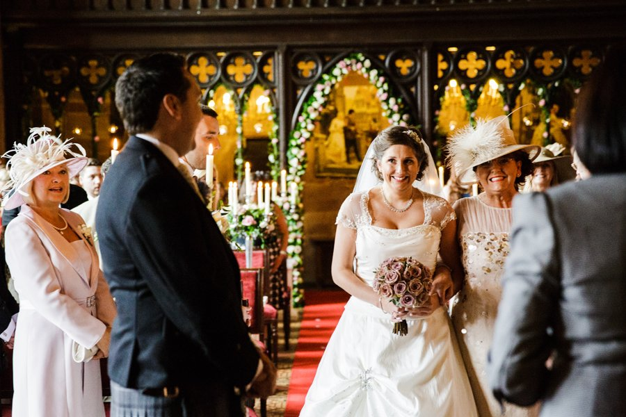 wedding ceremony peckforton castle
